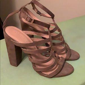 Charlotte Russe Hunter Green Strappy Block Heels